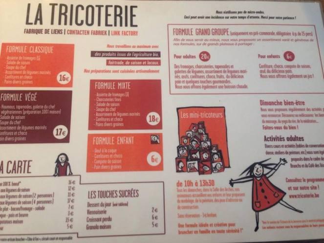 menu tricoterie